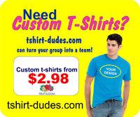 Planning an event?  T-Shirt Dudes Can Help!