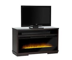 meuble audio  avec foyer electrique haut de game (meuble t??l??)