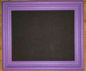 Large purple double frame chalkboard