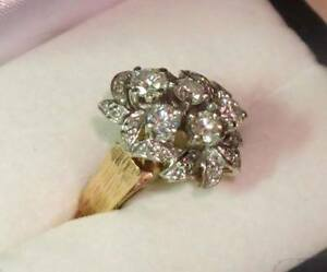 14K YELLOW GOLD DIAMOND RING - WITH APPRAISAL