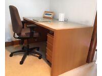 Ikea Desk & Drawers plus Swivel Chair