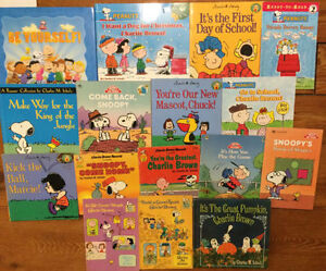 PEANUTS - CHARLIE BROWN - SNOOPY - books $3 each or all 16/$30