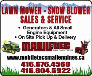 Mobiletec Lawnmower Snowblower Repair Service