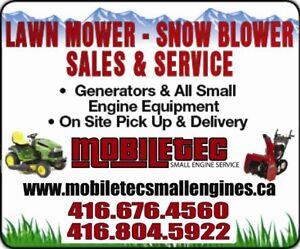 Mobiletec Lawnmower Small Engines Snowblower Repair Service