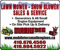 Mobiletec Snowblower Lawnmower Repair North York