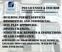 PERMIT PACKAGE-COMMERCIAL&RESIDENTIAL-STRUCTURAL ALTER. & REPORT