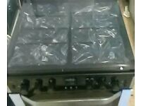 (Ex display ) Belling CFG60DOF Stainless Steel 60 cm Gas Cooker with Double Oven