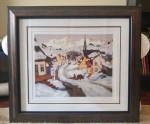 Clarence Gagnon numbered and framed print/Free delivery to GTA