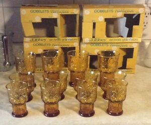 VINTAGE COUNTRY GARDEN.VTG RUSTIC TUMBLERS IN 3 SIZES BY LIBBEY. Gatineau Ottawa / Gatineau Area image 6