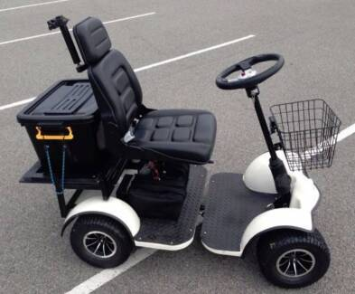 The Mobi-Mate mobility scooter with optional hard top canopy.