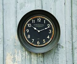Antique Style French Wall Clock Metal