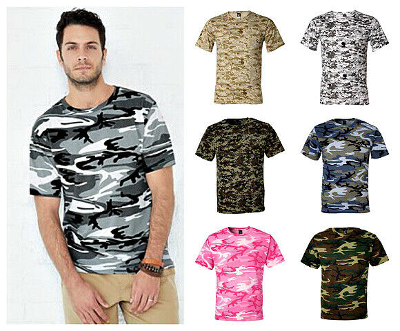 Men's Camo short sleeve T-Shirt 6 patterns Sm To 4x 8