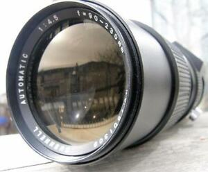 Canon FD Mount BUSHNELL AUTOMATIC 90-230mm f4.5 Zoom Lens VGC