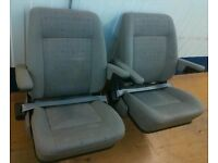 VW MultiVan T4 buddy seats PAIR captain rear-facing Transporter Caravelle Volkswagen