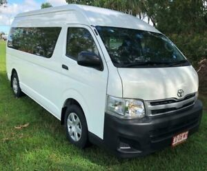 2013 Toyota HiAce KDH223R MY12 Commuter High Roof Super  White 5 Speed Manual Bus Berrimah Darwin City Preview