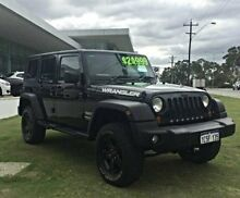 2008 Jeep Wrangler JK MY2008 Unlimited Sport Black 4 Speed Automatic Softtop Wangara Wanneroo Area Preview