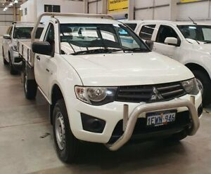 2015 Mitsubishi Triton MN MY15 GL White 5 Speed Manual Cab Chassis Edgewater Joondalup Area Preview