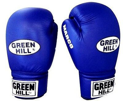 Greenhill Best Leather Boxing Gloves Marco 14oz Bags Heavy Punches Sparring