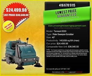 Tennant 8300  Sweeper/Scrubber  HUGE SAVINGS! - $24,499.98