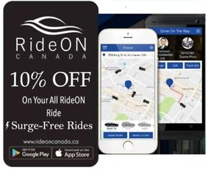 New Ride sharing KW-Cambridge-Guelph - NO SURGE