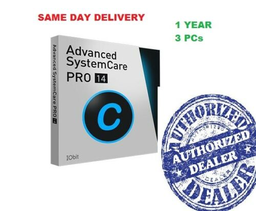 IObit Advanced SystemCare 14 PRO | 3 PCs - 1 Year Subscription. Fast Delivery!