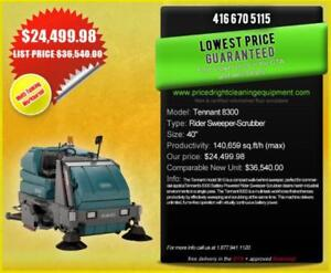 Tennant 8300  Sweeper/Scrubber  HUGE SAVINGS! - $24,499.98