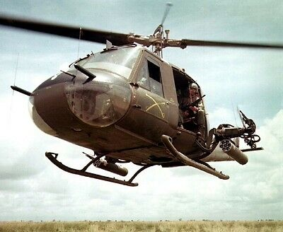 """Bell UH-1B Huey helicopter at work 8""""x 10"""" Vietnam War Photo Picture #37"""