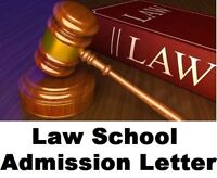 LAW SCHOOL Admission Essay Letter / Personal Statement Edit