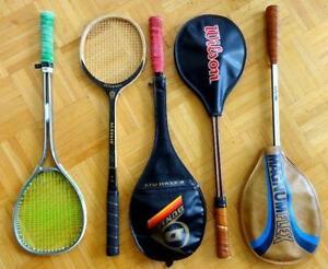 SQUASH Rackets Raquets FOR SALE Dunlop Wilson Spalding FREE BALL