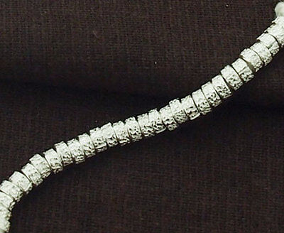 - Karen Hill Tribe Silver 30 Textured Ring Beads 4x2mm.