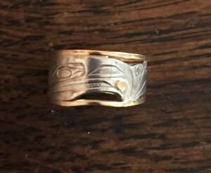 Corrine Hunt Raven Stole The Sun Ring Sterling / 14K Size 6