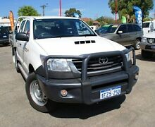 2014 Toyota Hilux KUN26R MY14 SR Double Cab White 5 Speed Automatic Cab Chassis Bellevue Swan Area Preview