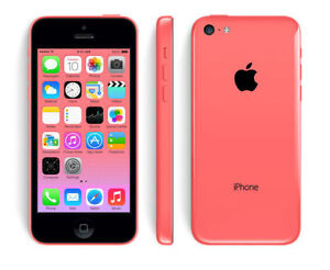iPhone 5C Fido/MTS Pink/green mint condition 8G