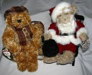 Avon Christmas Hat Box Teddies Teddy Bear Mixed Lot of 2 Chester