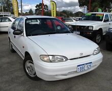 1996 Hyundai Excel X3 LX White 4 Speed Automatic Sedan Bellevue Swan Area Preview
