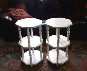 2 Octagon Side Tables