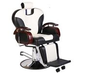 NEW HEAVY DUTY white &BLACK BARBER CHAIR BX-2685B uk