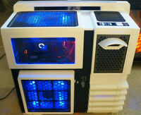 Custom Gaming Computer Package with Triple Monitors