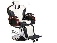NEW HEAVY DUTY white &BLACK BARBER CHAIR BX-2685B