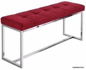 VIBES FABRIC BENCH- BRAND NEW- RED COLOR
