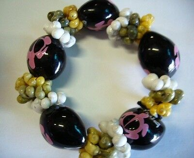 Hawaii Wedding / Graduation Kukui Nut Luau Hula Jewelry Bracelet ~#24130 (QTY 2)