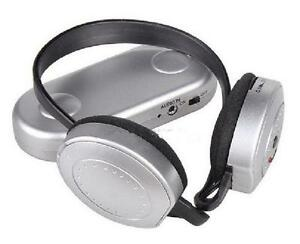 Wireless Hi-Fi Headphones - FM Radio Receiver Headset with Trans