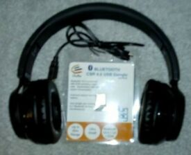 NEW Foldable Bluetooth Over Ear Headphones Wireless,with carry/storage bag.