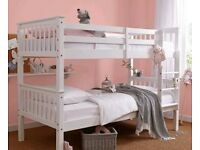 novaro bunk beds in white and wood colours without mattresses include assembly service price