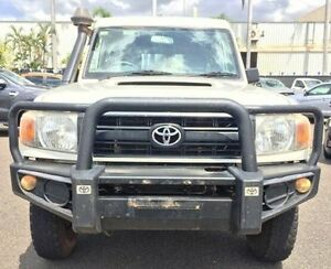2011 Toyota Landcruiser VDJ78R MY10 Workmate Troopcarrier White 5 Speed Manual Wagon Berrimah Darwin City Preview
