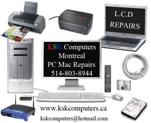 PC Mac Computer Services LCD Repair Virus Clean Data Recovery