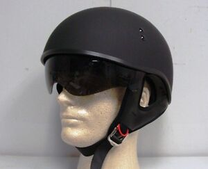 GMAX GM 55S HALF HELMET FLAT BLACK W/ RETRACTABLE INNER SUN LENS (XX-LARGE)