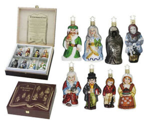 A Christmas Carol Ornament Set - Glass Ornaments by Inge-Glas®.