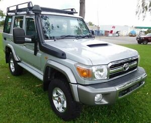 2010 Toyota Landcruiser VDJ76R MY10 GXL Silver 5 Speed Manual Wagon Hidden Valley Darwin City Preview