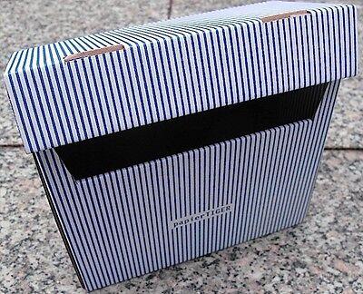 (1,60€/1Stk) PapierTiger Karteikasten Streifen A6 Kartonage ( 5 Stück ) blau